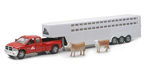 - Shop72 Personalize This Red 1:32 Scale Dodge Ram Pickup Truck with Trailer and Cattle Play Set with a Logo or Custom Message