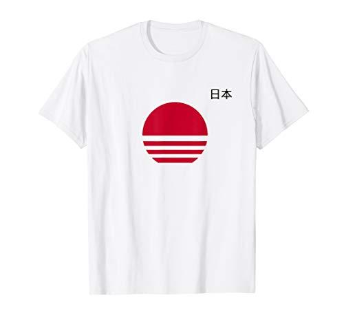 - Streetwear Minmal Japan Flag Tshirt
