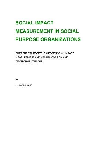 Amazon com: Social Impact Measurement in Social Purpose