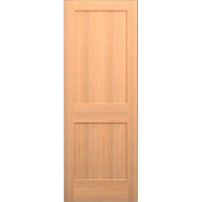 Wood 2 Panel Slab Interior Door Species: Cherry, Opening Width: 2/8