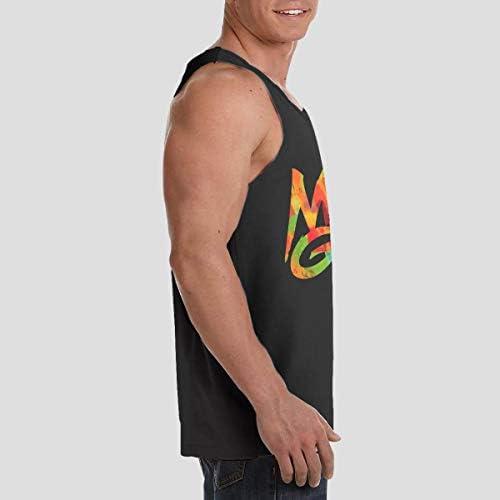 Martin Garrix ランニング ジョギング 男性の筋肉タンク 通気性 速乾