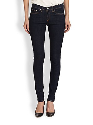 Rag & Bone/JEAN High Rise Skinny Jeans, 'Heritage' Dark Wash (24) from rag & bone