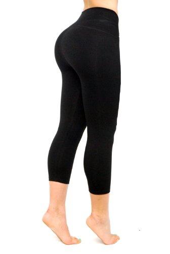 Black Capri - Bon Bon Up Women's Leggings with Internal Body ...