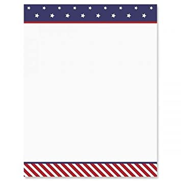 5f544238c4a3 Amazon.com   Stars and Stripes Patriotic Letter Papers - Set of 25 ...