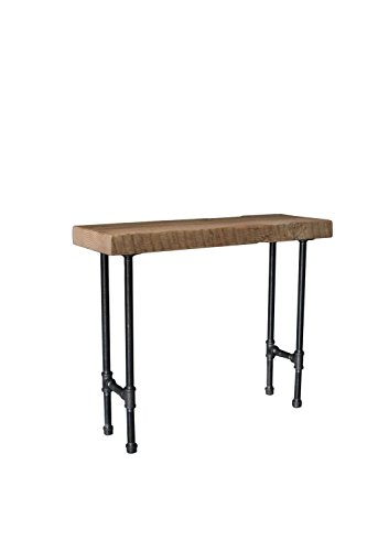 Attrayant Reclaimed Barn Wood Console Table With Steel Pipe Legs