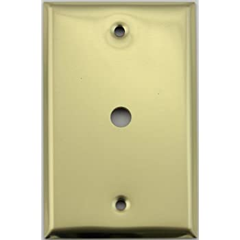 Polished Brass One Gang Cable TV/Coaxial Wall Plate