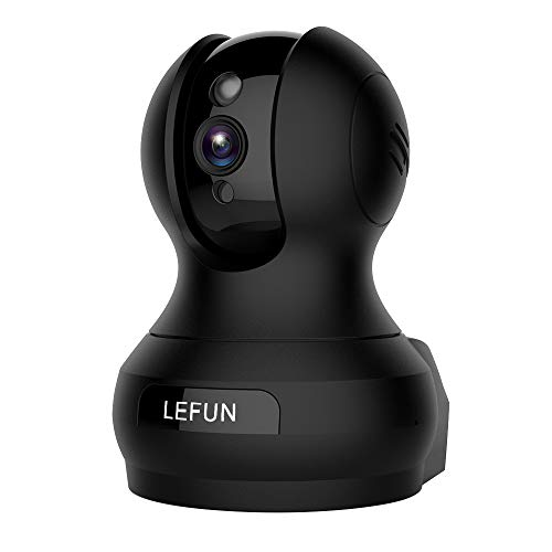 Lefun 1080P Wireless Security Indoor IP Camera Home Surveillance Nanny Cam Baby Elder Pet Monitor Built-in Motion Detection Night Vision 2 Way Audio Function Supports 2.4G WiFi ()