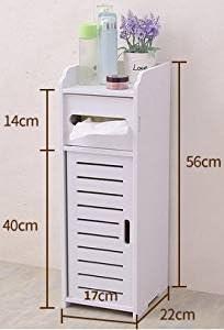 Estantería mueble columna cuarto de baño blanca de placa madera y ...