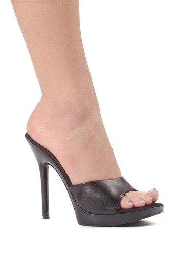 (5 Inch Heel Clear Mule Women'S Size Shoe (Black;11))