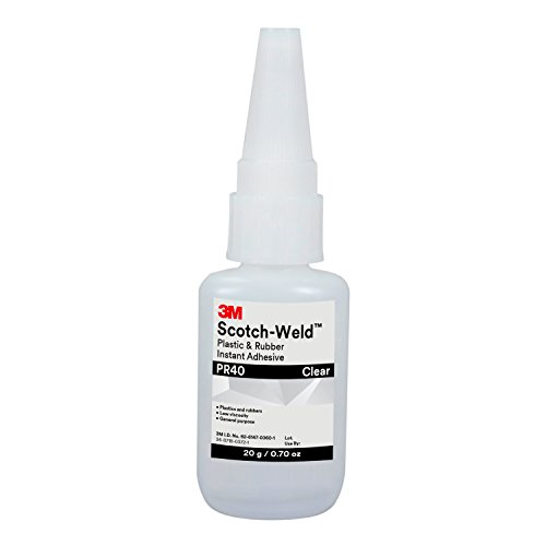 3M Scotch-Weld 25204 Plastic and Rubber Instant Adhesive PR40, 20 g Bottle, 0.676 fl. oz.