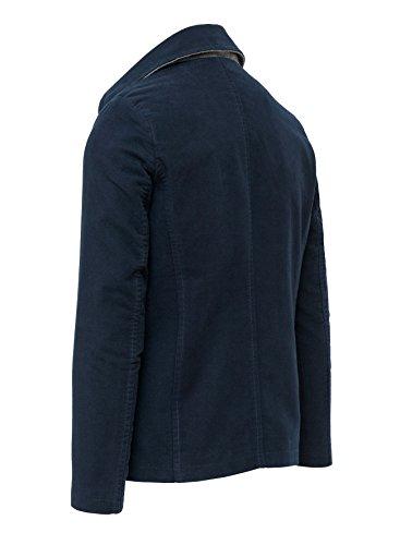 Uomo Casual Giubbino Invernale Giacca Blu Formale Fit Cappotto Slim Scuro 5nOwqxF8w
