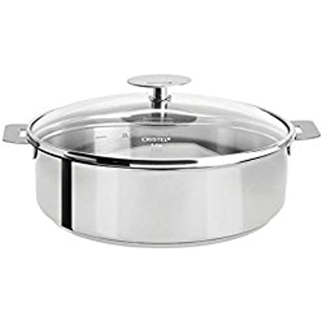 Cristel Mutine S24QKP Saute Pan 3 5 Quart Silver With Cristel Mutine Pman Handle Long Black