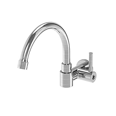 Parmir Water Systems SSK-110 Wall Mounted Pot Filler Faucet, Brushed Steel