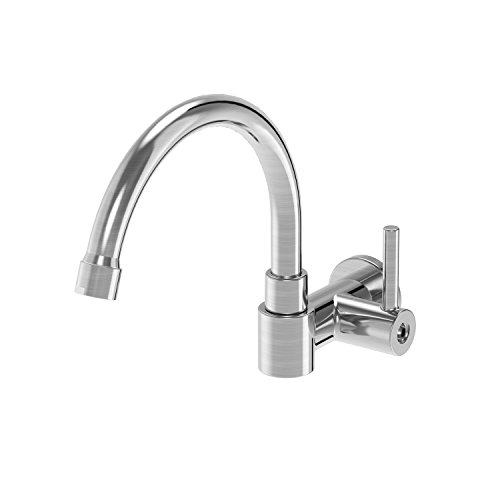 (Parmir Water Systems SSK-110 Wall Mounted Pot Filler Faucet, Brushed Steel)