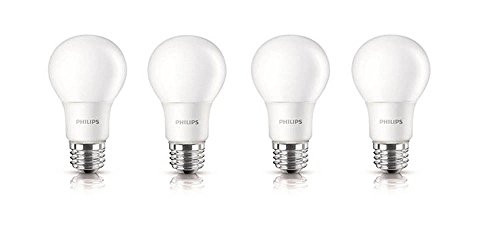 Philips 455717 100W Equivalent A19 LED Daylight Light Bulb, 4-Pack