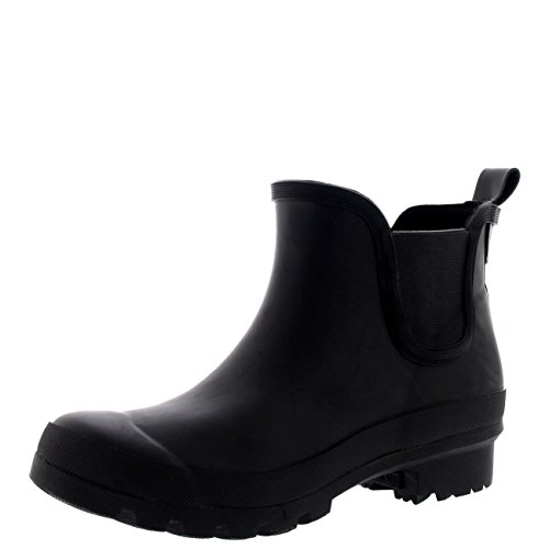 Polar Products Womens Original Chelsea Rubber Festival Winter Snow Rain Welly Boots Black
