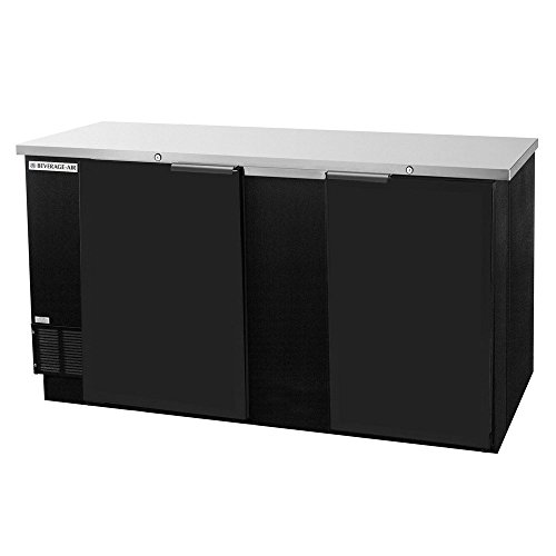 Beverage Air BB68F-1-B Two-Section Refrigerated Food Rated Back Bar Storage Cabinet 68