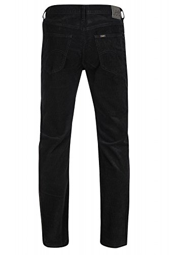 Lee Brooklyn Straight hommes velours côtelé pantalon noir L452WJ01
