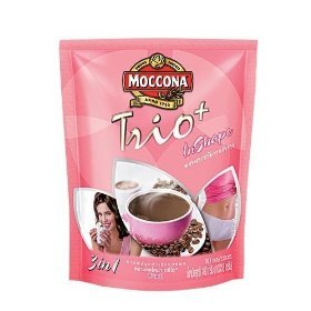 Moccona Trio in Shape 3in1 Instant Coffee 10 Sachets 180 G Thailand Product