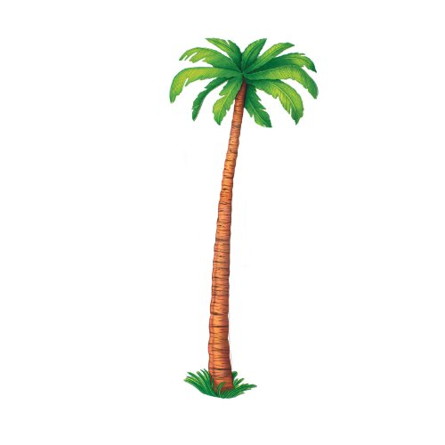 Beistle 55137 Jointed Palm Tree, 6-Feet - Luau Decorations Cut Out