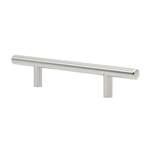 25 Pack Rok Hardware 4-1/4″ (108mm) Hole Modern Bar Style Brushed Nickel Kitchen Vanity Dresser Cabinet Pull Handle 7-13/32″ (188mm) Overall Length P503108BN