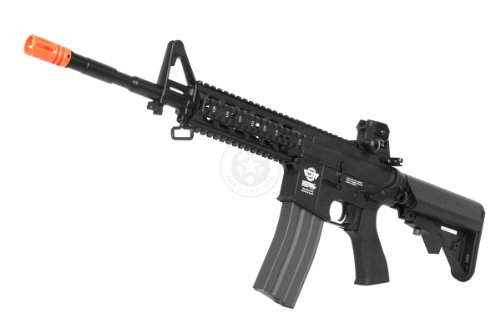 g&g airsoft combat machine m4 raider high-performance full metal gearbox aeg rifle w/ integrated ras and crane stock(Airsoft Gun) by G&G