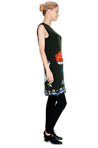 CHERRY PARIS - Vestido - vestido - Cuello redondo - Sin mangas - para mujer Verde