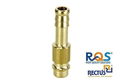 1 conector Rectus RQS de aire comprimido para acoplamiento rápido RQS (tipo 26) con