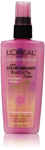 (2 Pack) L'Oreal Paris Advanced Haircare Color Vibrancy Root to Tip Fixer, 3.4 Fl Oz each