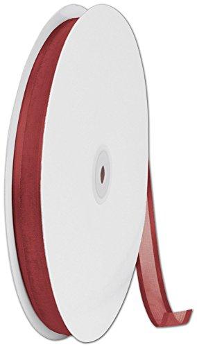 Ribbons Solid Color - Organza Satin Edge Cinnamon Ribbon, 5/8