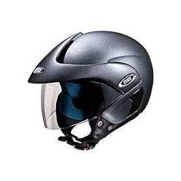 Studds Marshall Open Face Helmet (Gun Grey, L)
