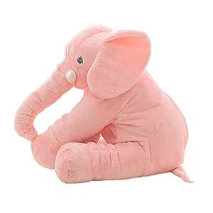 LApapaye 24inch Stuffed Elephant Plush Animal Toy Stuffed Animal,Pink