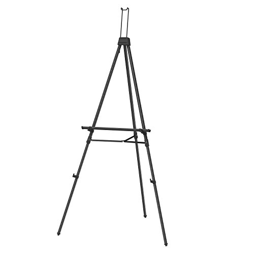 Quartet Display Easel, Aluminum, Heavy-Duty, Telescoping, 66' Max. Height, Supports 45 Lbs., Black (56EX)