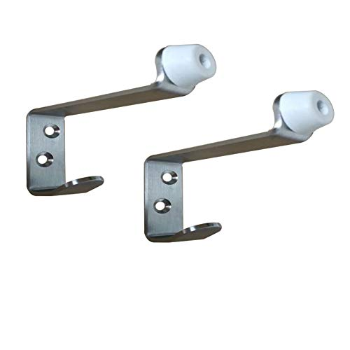 (Haidong 2Pcs Stainless Steel Hook Door Touch Door Top Hook Rubber Door Gear Hook)