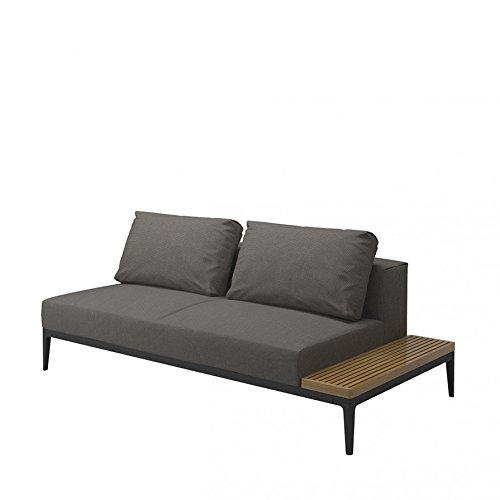 Grid In- und Outdoor Lounge Sofa mit Ablage rechts 206 x 103 cm, h 80 cm