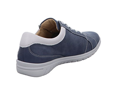 Piel Zapatos 82562 de Hartjes Cordones Stahlblau para 4819 Mujer aluminium de fERqdqSYWw