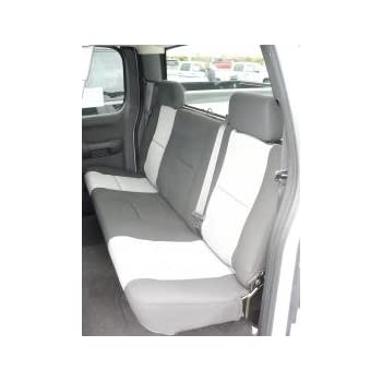 Durafit Seat Covers, C1102-C1-Chevy Silverado and Avalanche Xcab Rear Solid  Bench Seat Covers in Black Endura