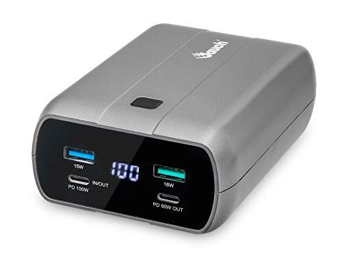 Jauch JPB27AHB Powerbank met 26.800mAh en uitgangen voor 2x USB-C 100W & 60W, 2x USB, QC3 18W, voor USB-C laptops…
