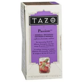 TAZO Passion Herbal Infusion Tea, Caffeine Free, 20-Count Tea Bags (Pack of 3)