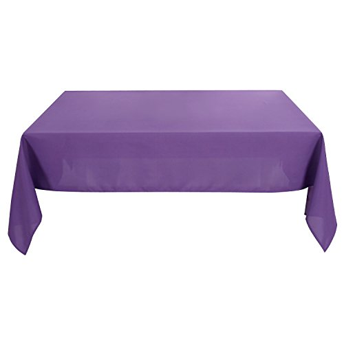 Deconovo Solid Oxford Decorative Rectangle/Oblong Water Resistant Tablecloth For Patio, 60x120-inch, - Rectangle Solid