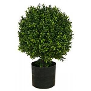 One 20 Inch Outdoor Artificial Boxwood Ball Topiary Bush Potted Uv Plant by Silk Tree Warehouse