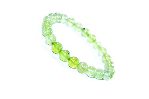 Bracelet Prehnite 8 MM Birthstone Handmade Healing Power Crystal Beads