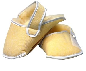 Synthetic Sheepskin Relief Slippers - Medium/Large for Wheelchair - 2 Each / Pair