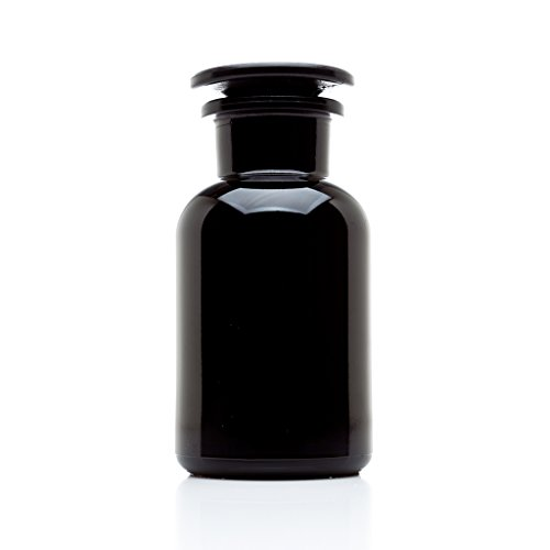 - Infinity Jars 250 ml Black Ultraviolet All Glass Refillable Empty Apothecary Jar