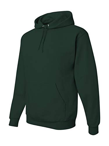 (Jerzees 8 oz. NuBlend 50/50 Pullover Hood, Forest Green - XXX-Large)