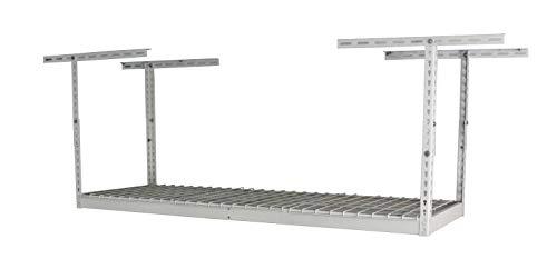 """MonsterRax - 2x6 Overhead Garage Storage Rack - White (12""""-21"""")"""