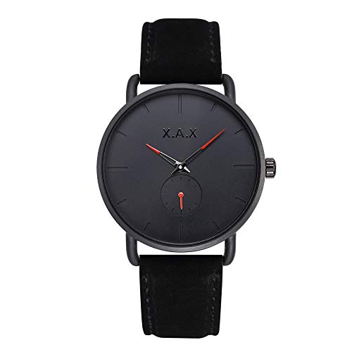 Full Back Men's Watch Quartz Movement Top Grain Suede Leather Band