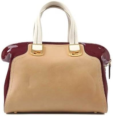 FENDI sac à main femme en cuir chameleon beige: