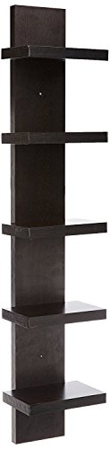 Artesia Brown MDF Wall Shelf/Display Rack  Wenge, 5 Shelves