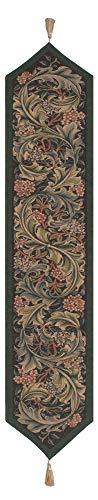 (William Morris Green French Tapestry Table Runner)